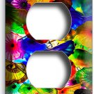 COLORFUL MURANO GLASS DUPLEX OUTLET WALL PLATE COVER BEDROOM KITCHEN HOME DECOR
