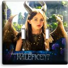 YOUNG MALEFICENT W HORNS WINGS DOUBLE LIGHT SWITCH WALL PLATE GIRLS PLAY BEDROOM
