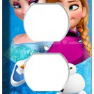 ELSA and ANNA SISTERS DISNEY FROZEN ELECTRIC POWER OUTLET WALL PLATE GIRLS ROOM