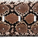 SNAKE SKIN SCALE ANIMAL PRINTS TRIPLE LIGHT SWITCH WALL PLATE COVER RUSTIC DECOR