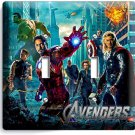AVENGERS CAPTAIN AMERICA THOR HULK HAWKEYE DOUBLE LIGHT SWITCH WALL PLATE COVER