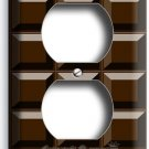 DARK CHOCOLATE BAR CUBES DUPLEX OUTLET WALL PLATE COVER CHEF KITCHEN ROOM DECOR