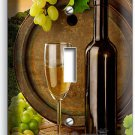 TUSCAN VINEYARD RUSTIC WINE BARREL GRAPES SINGLE LIGHT SWITCH WALL PLATE COVER