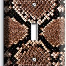 SNAKE SKIN SCALE ANIMAL PRINTS SINGLE LIGHT SWITCH WALL PLATE COVER RUSTIC DECOR