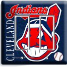 CLEVELAND INDIANS BASEBALL DOUBLE GFCI LIGHT SWITCH WALL PLATE COVER HOME DECOR