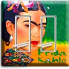 PORTRET FRIDA KAHLO MEXICAN ARTIST DOUBLE GFCI LIGHT SWITCH WALL PLATE ART COVER