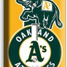 OAKLAND ATHLETICS BASEBALL TEAM SINGLE LIGHT SWITCH WALL PLATE COVER BOYS ROOM