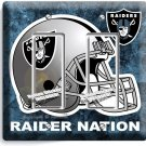 OAKLAND RAIDERS NATION NFL FOOTBALL TEAM DOUBLE GFCI LIGHT SWITCH WALL PLATE ART