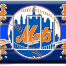 NEW YORK METS BASEBALL TEAM TRIPLE GFCI LIGHT SWITCH WALL PLATE COVER BOYS ROOM