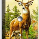 WHITETAIL DEER BUCK ANTLERS LIGHT DIMMER VIDEO CABLE WALL PLATE COVER HOME DECOR
