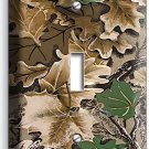 MOSSY TREE OAK CAMO CAMOUFLAGE SINGLE LIGHT SWITCH WALL PLATE WOODS CABIN DECOR