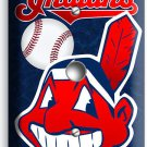 CLEVELAND INDIANS BASEBALL LIGHT DIMMER / CABLE WALL PLATE COVER MAN CAVE DECOR