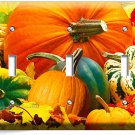 PUMPKINS SQUASH HARVEST TRIPLE LIGHT SWITCH WALL PLATE COVER KITCHEN DINING ROOM