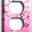 JAPANESE PINK SAKURA CHERRY FLOWERS BLOSSOM ELECTRIC DUPLEX OUTLET PLATE COVER
