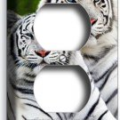 WILD ANIMALS WHITE BENGAL TIGERS DUPLEX OUTLET COVER WALL PLATE ROOM HOME DECOR