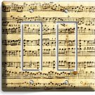 ♫ SHEET MUSIC OLD MUSICAL NOTES DOUBLE GFCI LIGHT SWITCH WALL PLATE COVER STUDIO