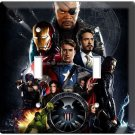 THE AVENGERS IRONMAN THOR SUPER POWER HULK DOUBLE LIGHT SWITCH WALL PLATE COVER