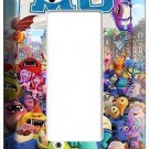 MONSTERS  UNIVERSITY SINGLE LIGHT SWITCH GFI OUTLET COVER GIRLS ROOM DECORATION