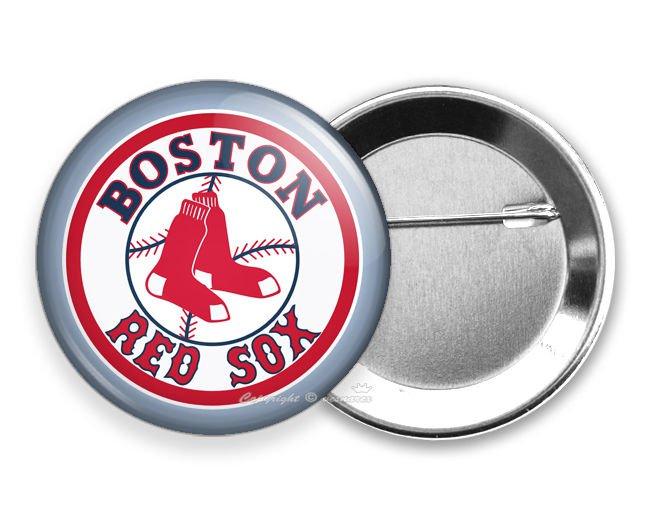 BOSTON RED SOX MASSACHUSETTS BASEBALL TEAM PIN PINBACK BUTTON GAME FAN GIFT IDEA