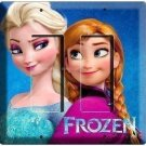 ELSA and ANNA DISNEY FROZEN SISTER LOVE DOUBLE GFI LIGHT SWITCH COVER GIRLS ROOM