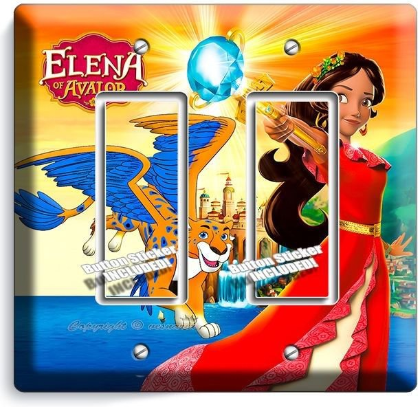 PRINCESS ELENA OF AVALOR SKYLAR DOUBLE GFCI LIGHT SWITCH WALL PLATE GIRLS ROOM