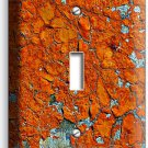 RUSTIC CRACKED RUST RUSTED SINGLE LIGHT SWITCH WALL PLATE COVER HOME ROOM DECOR