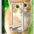 CUTE GREEN EYES KITTEN KITTY CAT SINGLE GFI LIGHT SWITCH WALL PLATE COVER DECOR