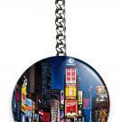 NEW MANHATTAN NEW YORK CITY THAT NEVER SLEEPS TIMES SQUARE KEYCHAIN KEY FOB RING