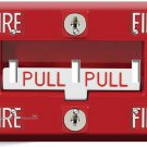 FIRE ALARM PULL DOWN TRIPLE LIGHT SWITCH WALL PLATE COVER MAN CAVE GARAGE DECOR