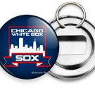 CHICAGO WHITE SOX COOPERSTOWN BASEBALL TEAM BEER BOTTLE OPENER KEYCHAIN KEY FOB