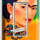 PORTRET FRIDA KAHLO MEXICAN ARTIST SINGLE GFCI LIGHT SWITCH WALL PLATE ART COVER