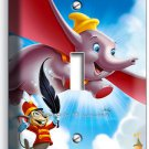 DUMBO ELEPHANT & MOUSE BOYS GIRLS BEDROOM SINGLE LIGHT SWITCH COVER WALL PLATE