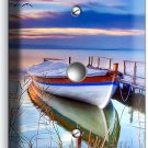BOAT ON THE LAKE TWILIGHT LIGHT DIMMER VIDEO CABLE WALL PLATE COVER DREAMY DECOR
