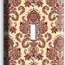 VICTORIAN PATTERN SINGLE LIGHT SWITCH WALL PLATE COVER BEDROOM LIVING ROOM DECOR