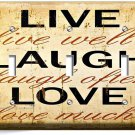 LIVE LAUGH LOVE RUSTIC COUNTRY TRIPLE LIGHT SWITCH WALL PLATE KITCHEN BEDROOM TV