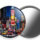 NEW MANHATTAN NEW YORK CITY THAT NEVER SLEEPS TIMES SQUARE SQ. HAND HELD MIRROR