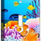TROPICAL SEA EXOTIC CORAL AQUARIUM CLOWN FISH SINGLE LIGHT SWITCH PLATE COVER