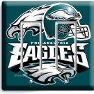 PHILADELPHIA EAGLES FOOTBALL DOUBLE GFCI LIGHT SWITCH PLATE BOYS ROOM MAN CAVE