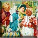 AUNT JEMIMA KITCHEN DECORATION VINTAGE RETRO AD DOUBLE LIGHT SWITCH WALL PLATE