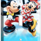 MICKEY MOUSE AND MINNIE LOVE ICE SKATING SINGLE LIGHT SWITCH WALL PLATE COVER cd