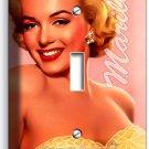 MARILYN MONROE SMILE GOLDEN DRESS SINGLE LIGHT SWITCH WALL PLATE COVER ART DECOR