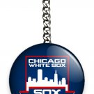 CHICAGO WHITE SOX COOPERSTOWN BASEBALL TEAM KEYCHAIN KEY FOB CHAIN SPORT FAN GIF