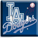 LA LOS ANGELES DODGERS MLB TEAM LOGO DOUBLE LIGHT SWITCH WALL PLATE COVER DECOR