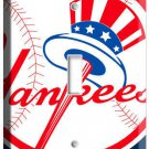BASEBALL MLB NEW YORK YANKEES LOGO SINGLE LIGHT SWITCH GAME TV ROOM DECORATION