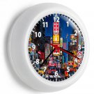 NY NEW YORK CITY TIMES SQUARE MANHATTAN NYC WALL CLOCK OFFICE LIVING ROOM DECOR
