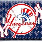 BASEBALL NEW YORK YANKEES TEAM LOGO TRIPLE LIGHT SWITCH GAME TV ROOM HOME DECOR