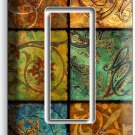 ITALIAN PATCHWORK TILES PRINT SINGLE GFCI LIGHT SWITCH WALL PLATE COVER HOME ART
