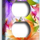 ❀ FLORAL LILIES PURPLE ORANGE LILY FLOWERS DUPLEX OUTLET WALL PLATE COVER DECOR