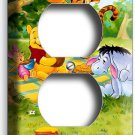 WINNIE POOH TIGGER EEYORE PIGLET DUPLEX OUTLET WALL PLATE COVER ROOM HOME DECOR