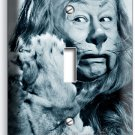 COWARDLY LION BERT LAHR WIZARD OF OZ RETRO SINGLE LIGHT SWITCH WALL PLATE COVER